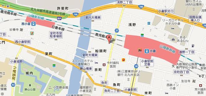 小倉ソープAngeの地図