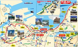 北九州マラソンマップ